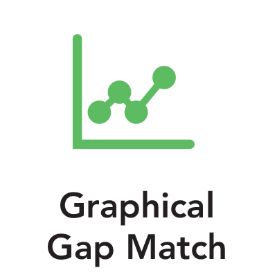 Green graph graphic