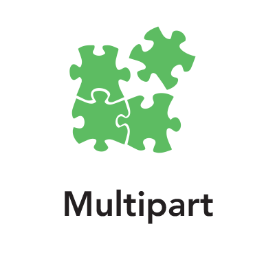 Green puzzle piece graphic
