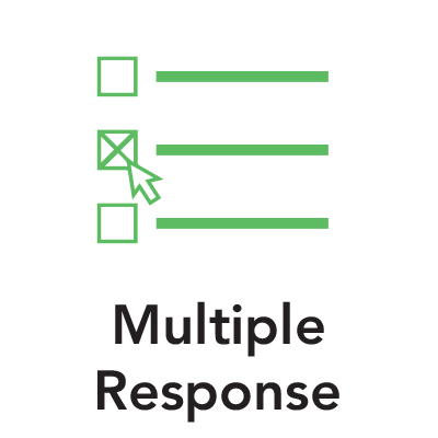 Green multiple responses graphic