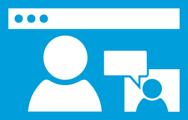Blue computer screen clipart