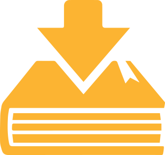 Image of a yellow book with download arrow