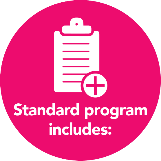 Standard program includes
