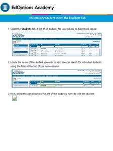 EdOptions Academy - Maintaining Students Resource image.