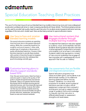 Special Education Best Practices And >> Special Education Teaching Best Practices Edmentum