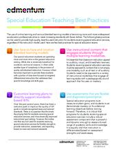 Special Education 4 Teaching Best Practices Edmentum Blog >> Special Education Teaching Best Practices Edmentum